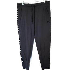 PINK Victoria's Secret Gray & Black Lined Sweats